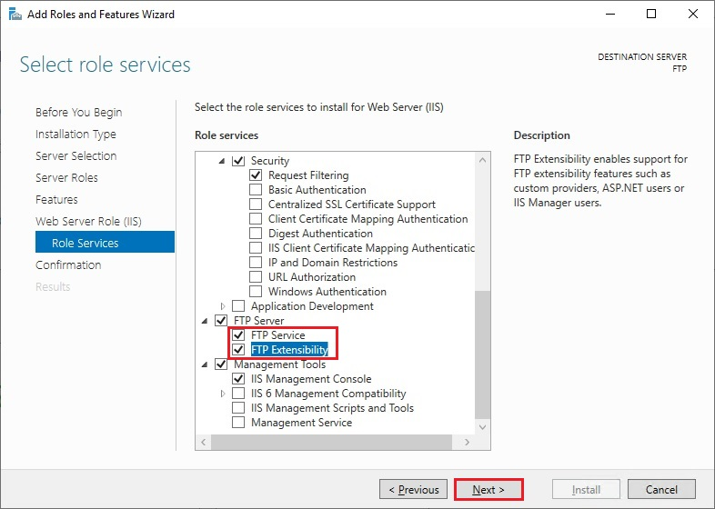 ftp server and ftp extensibility